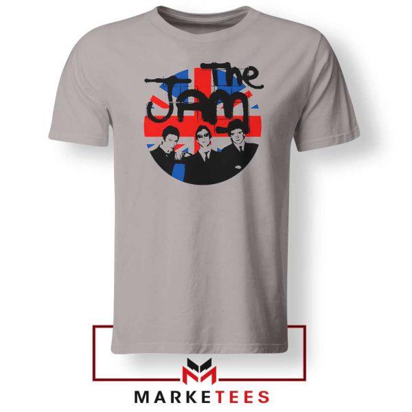 Union Jack Circle The Jam Nice Grey Tshirt