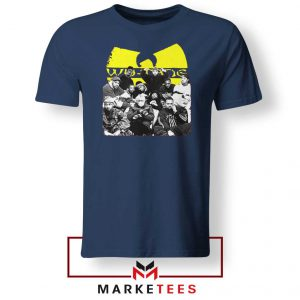 Wu Tang Feat Bernie Mask Navy Blue Tshirt