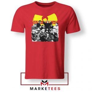 Wu Tang Feat Bernie Mask Red Tshirt