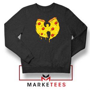 Wu Tang Pizza Funny Hip Hop Black Sweatshirt
