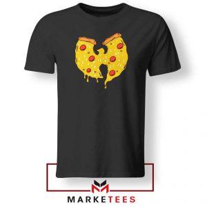 Wu Tang Pizza Funny Hip Hop Black Tshirt