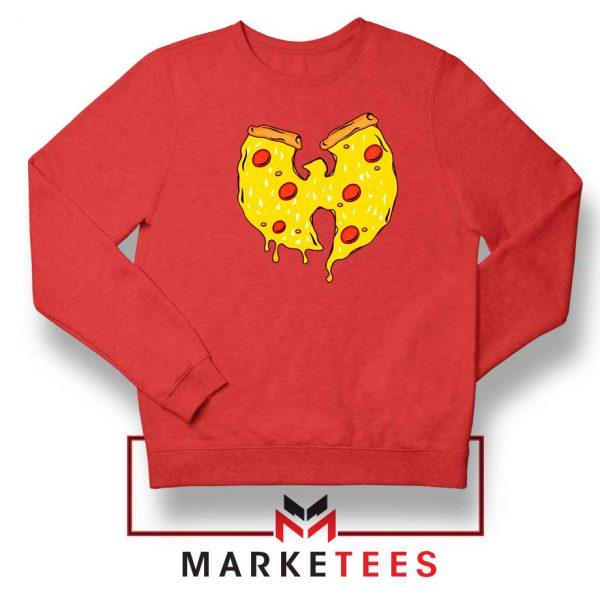 Wu Tang Pizza Funny Hip Hop Red Sweatshirt