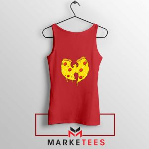 Wu Tang Pizza Funny Hip Hop Red Tank Top