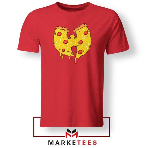 Wu Tang Pizza Funny Hip Hop Red Tshirt