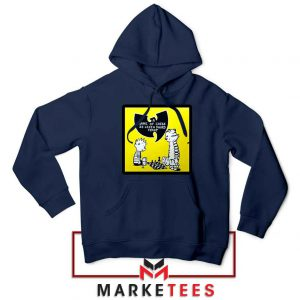 Wutang Cartoon Comic Strip Navy Blue Hoodie