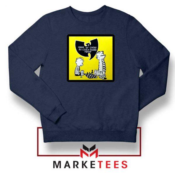 Wutang Cartoon Comic Strip Navy Blue Sweatshirt