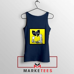 Wutang Cartoon Comic Strip Navy Blue Tank Top