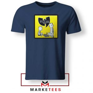 Wutang Cartoon Comic Strip Navy Blue Tshirt