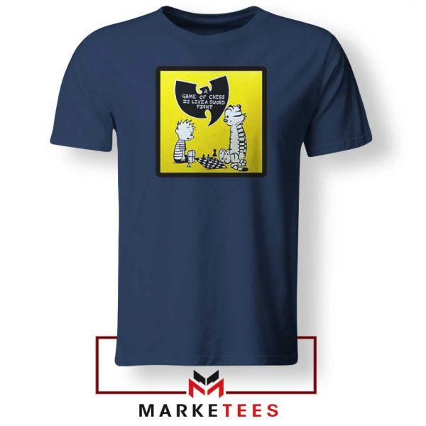 Wutang Cartoon Comic Strip Navy Blue Tshirt
