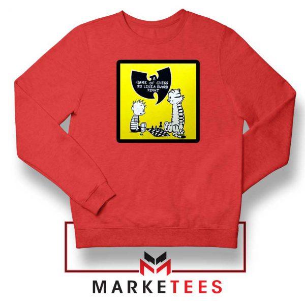 Wutang Cartoon Comic Strip Red Sweatshirt