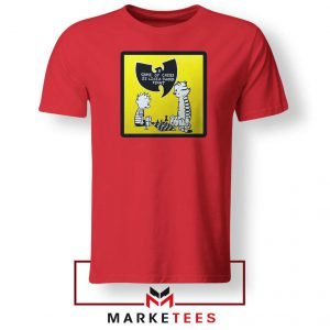Wutang Cartoon Comic Strip Red Tshirt