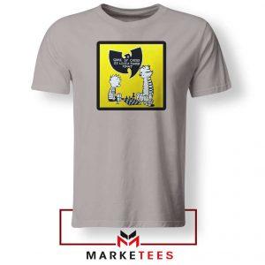 Wutang Cartoon Comic Strip Sport Grey Tshirt
