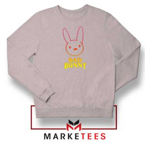 Bad Bunny Hip Hop Rabbit Sport Grey Sweatshirt