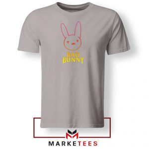 Bad Bunny Hip Hop Rabbit Sport Grey Tshirt