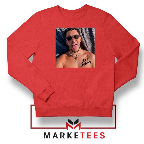 Bad Bunny Musician Reggaeton Red Sweatshirt