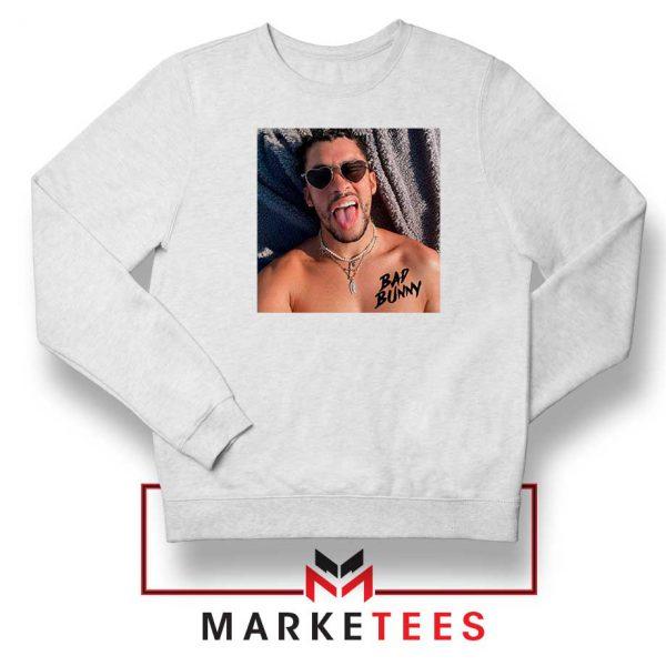 Bad Bunny Musician Reggaeton White Sweatshirt