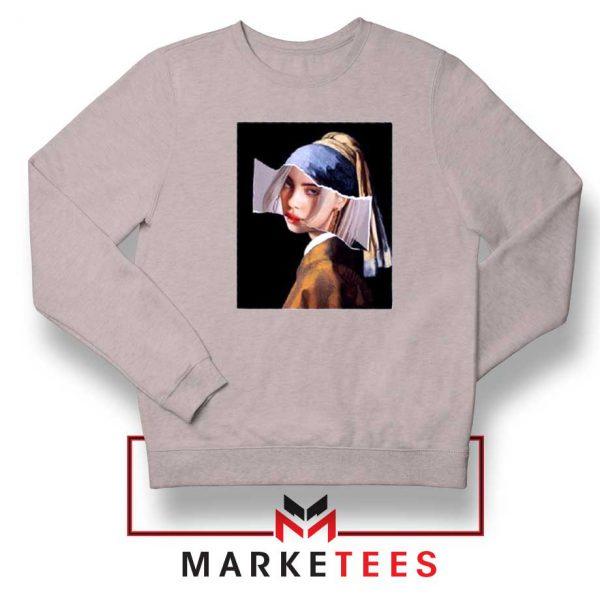 Billie Eilish Art Parody Grey Sweatshirt