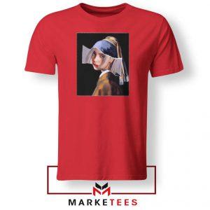 Billie Eilish Art Singer Parody Red Tshirt