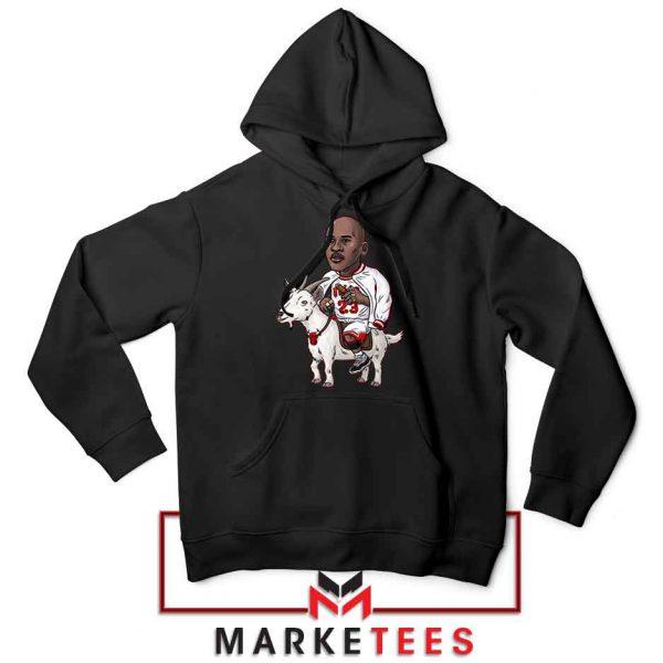 GOAT Jordan Basketball Black Hoodie