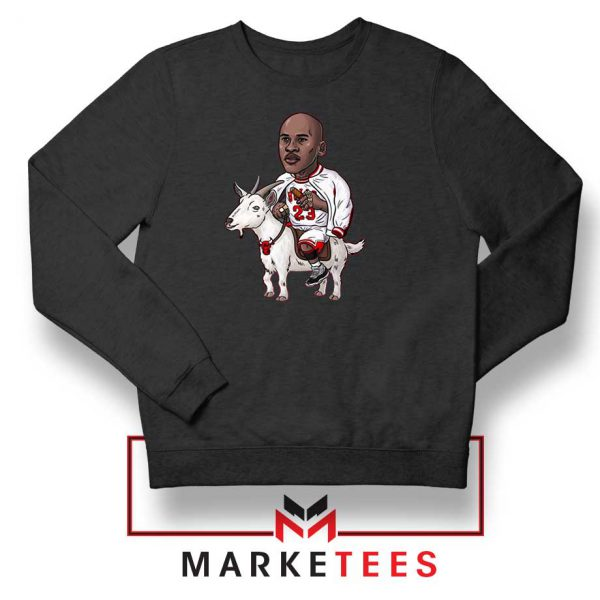 GOAT Jordan Basketball Black Sweatshirt