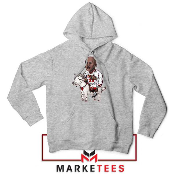 GOAT Jordan Basketball Grey Hoodie
