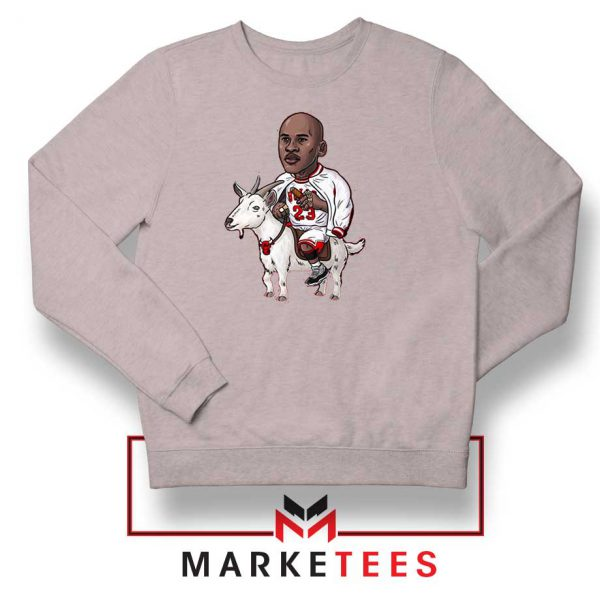 GOAT Jordan Basketball Grey Sweatshirt