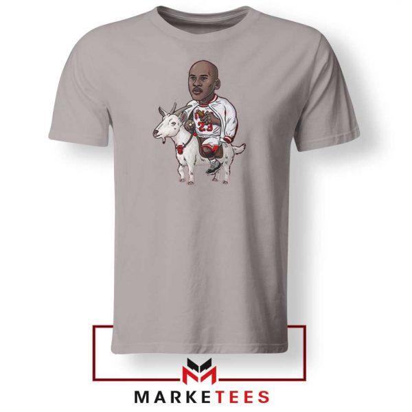 GOAT Jordan Basketball Grey Tshirt