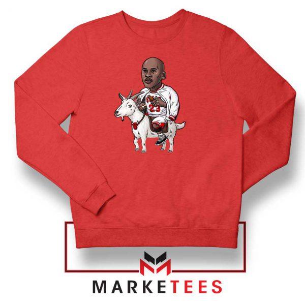 GOAT Jordan Basketball Red Sweatshirt