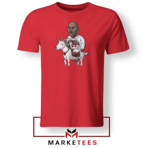 GOAT Jordan Basketball Red Tshirt