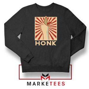 Honk Goose Game Online Black Sweatshirt