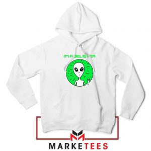 I am A Believer Alien White Hoodie