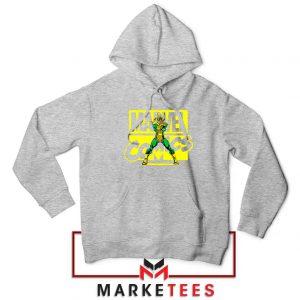 Marvel Comics Loki Superhero Sport Grey Hoodie