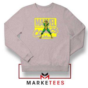 Marvel Comics Loki Superhero Sport Grey Sweatshirt