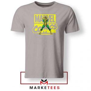 Marvel Comics Loki Superhero Sport Grey Tshirt