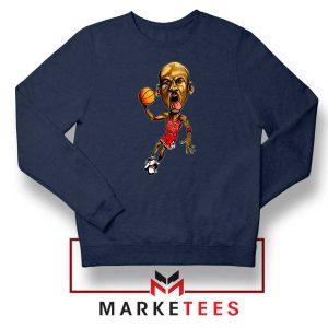 Michael Jordan Caricature NBA Navy Blue Sweatshirt
