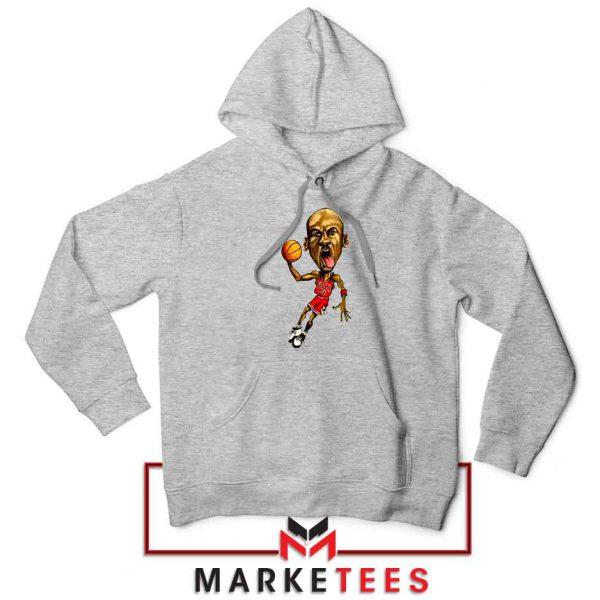 Michael Jordan Caricature NBA Sport Grey Hoodie