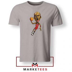 Michael Jordan Caricature NBA Sport Grey Tshirt