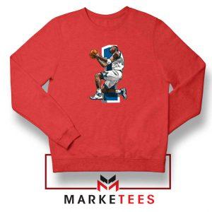Penny Hardaway Basketball Red Sweatshirt
