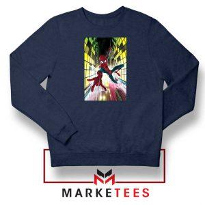 Spider Man Friendly Neighbor Navy Blue Sweatshirt