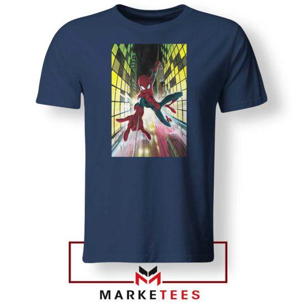 Spider Man Friendly Neighbor Navy Blue Tshirt