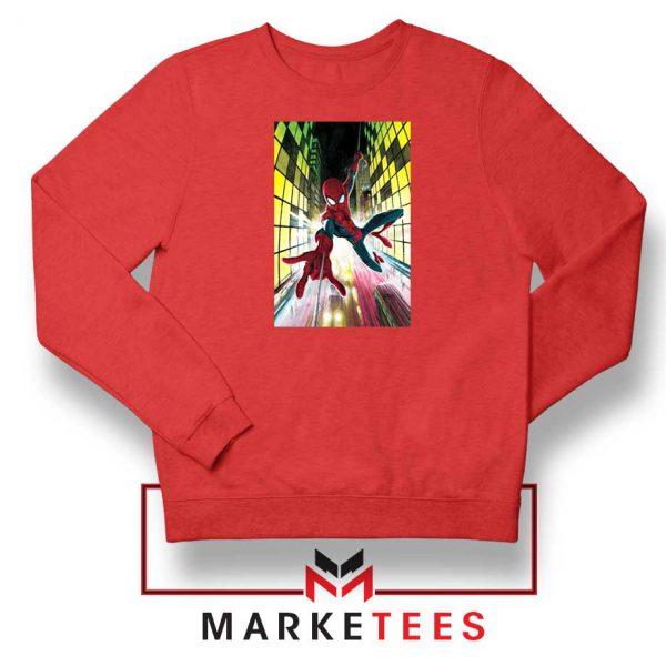Spider Man Friendly Neighbor Red Sweatshirt
