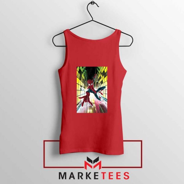 Spider Man Friendly Neighbor Red Tank Top