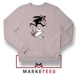 Spy Vs Spy Yin and Yang Grey Sweatshirt