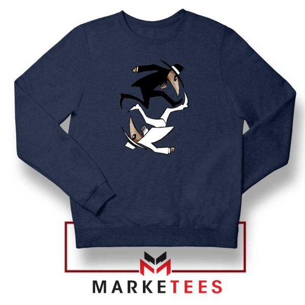 Spy Vs Spy Yin and Yang Navy Blue Sweatshirt