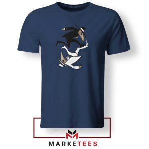 Spy Vs Spy Yin and Yang Navy Blue Tshirt