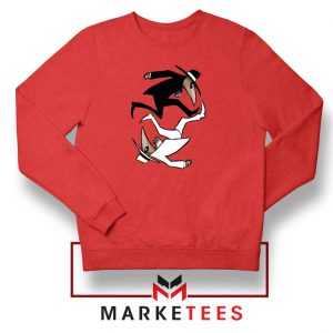 Spy Vs Spy Yin and Yang Red Sweatshirt