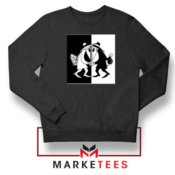 Spy vs Spy Art Video Game Black Sweatshirt