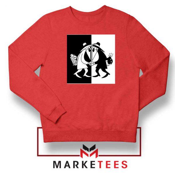 Spy vs Spy Art Video Game Red Sweatshirt