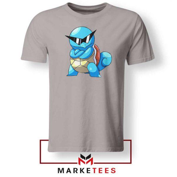 Squirtle Shades Pokemon Design Grey Tshirt
