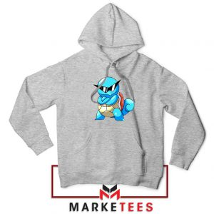 Squirtle Shades Pokemon Grey Hoodie